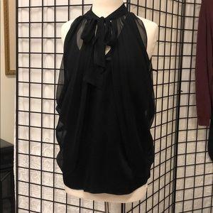 💯 silk black top